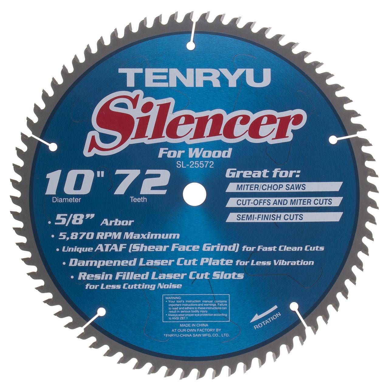 Silencer saw blade 10 dia 72t 0110 kerf 58 arbor tenryu sl silencer saw blade 10 dia 72t 0110 kerf 58 arbor tenryu sl 25572 greentooth Images