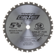 Tenryu CF-13530M - Cord Free Series Saw Blade for Mild Steel