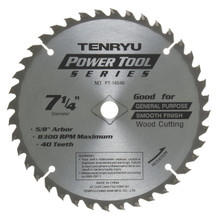 Tenryu PT-18540 - Power Tool Series Saw Blade for Table/Portable Saw