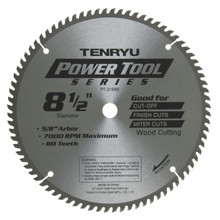 Tenryu PT-21680 - Power Tool Series Saw Blade for Miter/Slide Miter Saw