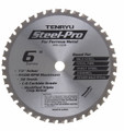 "Steel-Pro Saw Blade, 6"" Dia, 38T, 0.079"" Kerf, 1/2"" Arbor, Tenryu PRF-15238"