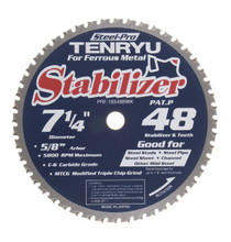 "Steel-Pro Stabilizer Saw Blade, 7-1/4"" Dia, 48T, 0.079"" Kerf, 5/8""KO Arbor, Tenryu PRF-18548BWK"