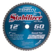 "Steel-Pro Stabilizer Saw Blade, 12"" Dia, 60T, 0.098"" Kerf, 1"" Arbor, Tenryu PRF-30560DK"