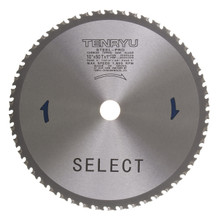 "Steel-Pro Select Saw Blade, 10"" Dia, 50T, 0.091"" Kerf, 1"", 5/8"" Arbor, Tenryu PRF-25550DS"