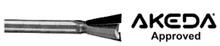Whiteside DA7-438 - Akeda Dovetail Bits (Akeda Approved) - Quarter Inch Shank, Akeda 7deg Dovetail Bit