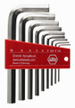Wiha 35191 - L-Key Hex Nickel Short-Arm 9 Pc Set Metric 1.5-10mm