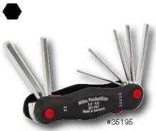 Wiha 35195 - PocketStar Fold Out Hex 7 Pc 2-8mm
