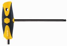 Wiha 33428 - Soft Grip Ball Hex Dual Drive T-Handle Black 5/32