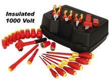 Wiha 31790 - 24 Pc Insulated Socket/Driver/Plier Inch Set