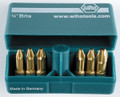 Wiha 71196 - Pokitpak TiN Phillips Insert Bits 6 Pc Set