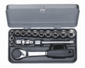 Wiha 60294 - 3/8 Drive Socket 12 Point 15Pc Metric Set
