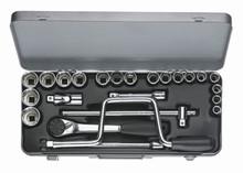 Wiha 60396 - 1/2 Drive Socket 12 Point Metric 24 Pc Set