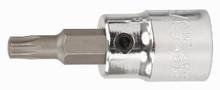 Wiha 70123 - 1/4 Drive Socket with Tamper Resistant Torx Bit T40S