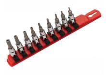 Wiha 71999 - 3/8 Drive 9 Pc Tamper Resistant Hex Inch Set 5/64-1/4