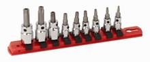 Wiha 76397 - 1/4 & 3/8 Drive 9 Pc Tamper Resistant Torx Set T10-T50