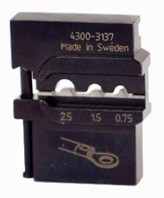 Wiha 43137 - PortaCrimp Die Set For Non-Insulated Terminals, Lugs & Splices 14/16/20 AWG