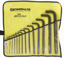 Bondhus 10935 - Set of 15 Ball End Hex L-keys .050-1/2 in in Pouch