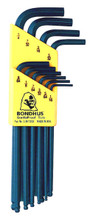 Bondhus 10937 - Set of 13 Ball End Hex L-keys .050-3/8 - Bondhus 10938