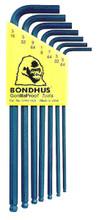 Bondhus 10945 - Set of 7 Ball End Hex L-keys 5/64-3/16