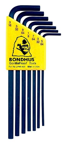 Bondhus 12145 - Set of 7 Hex L-keys 5/64-3/16 - Long