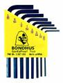 Bondhus 12232 - Set of 8 Hex L-keys .050-5/32 - Short