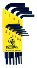 Bondhus 12238 - Set of 10 Hex L-keys 1/16-1/4 - Short