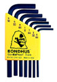 Bondhus 12245 - Set of 7 Hex L-keys 5/64-3/16 - Short