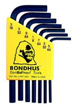 Bondhus 12245 - Set of 7 Hex L-keys 5/64-3/16 - Short