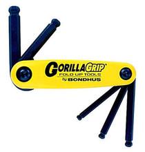Bondhus 12894 - Set of 5 Ball End Hex Fold-up Tools 3/16-3/8
