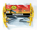Bondhus 13332 - Set of 8 Graduated Length Hex T-Handles 3/32-1/4