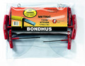 Bondhus 13348 - Set of 6 Graduated Length Hex T-Handles 2-6mm