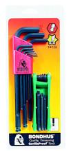 Bondhus 14126 - Bonus Pack - Ball End Hex L-key Set 10999 & GorillaGrip Fold-up Star Set 12632