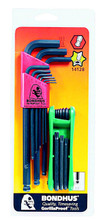 Bondhus 14128 - Bonus Pack - Ball End Hex L-key Set 10999 & GorillaGrip Fold-up Star Set 12634