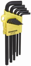 "Bondhus 16037 - Set of 13 Ball End Hex L-Wrenchs .050-3/8"" Xlong"
