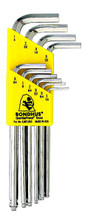 Bondhus 16938 - Set of 10 BriteGuard Plated Ball End Hex L-keys 1/16-1/4