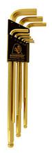 Bondhus 38099 - Set of 9 GoldGuard Plated Ball End Hex L-keys 1.5-10mm