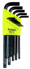 Picture for reference only. Actual product contains sizes listed in description. Bondhus 74938 - Set of 10 ProHold Ball End Hex L-keys 1/16-1/4