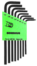 Picture for reference only. Actual product contains sizes listed in description. Bondhus 31832 - Set of 8 Star L-keys - Long Arm Style - T6-T25