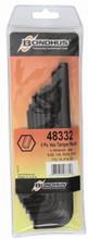 """Bondhus 48332 - Set of 8 Hex Tamper Resistant L-keys (3/32-3/8"""")"""