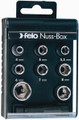 "Felo 22198 - 1/4"" Nut Box with 8 Metric Sockets & Adapter"