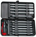 Felo 52761 - 12 pc Smart Mechanic Square Set - Slotted, Phillips, Pozidriv, Hex, & Torx Blades & Sockets