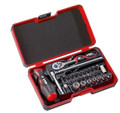 Felo 52759 - 29 pc Smart II Square Set - Slotted, Phillips, Square, & Torx Bits with Ratchet & Sockets