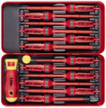 Felo 51719 - E-Smart 14 pc Set - Slotted, Phillips, Pozidriv, Torx Tip Insulated Blades with 2 Handles