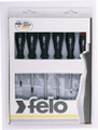 Felo 50174 - 6 pc Slotted & Phillips Screwdriver Set - 2 Component Handle