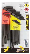Bondhus 20499 - Inch/Metric ProHold Balldriver L-wrench Double Pack 74937 (.050-3/8) & 74999 (1.5-10mm)