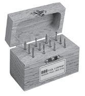 Solid Carbide Single Cut Miniature Bur Set Number 1 SGS BUR-1