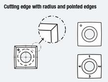 4 Sided 1 Hole Insert Knife, Square Corner, 15mm x - Southeast Tool SI-151525-SQ