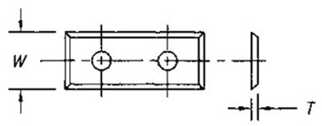 Reversible Insert Knife, 4 Cutting Edges w/ 2 Holes