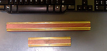 Deulen planer jointer knife fixtures - brass and rosewood