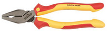 """Wiha 32930 - 8"""" Insulated Combination Linemans Pliers With Brushed Finish"""